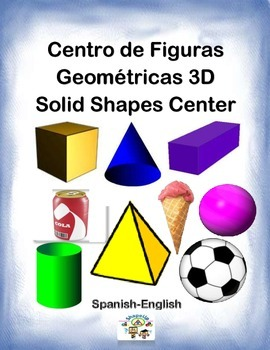 Spanish Math Solid Shapes / Figuras Geometricas 3D in a Station / Center Act.