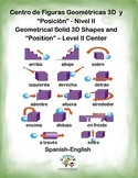 Spanish Math Solid Shapes - II / Figuras 3D -Nivel II in a Station / Center Act.