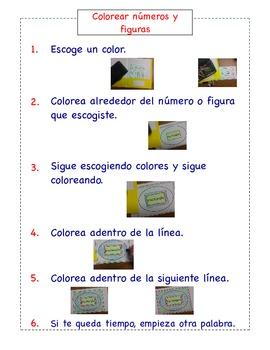 Spanish Math Station Instructions