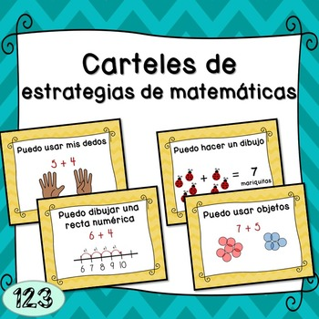 Math Strategy Posters - Spanish