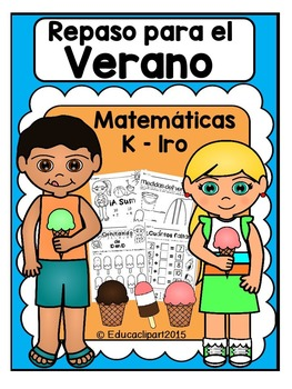 Spanish Math Summer Review (Kinder - first grade) / Repaso