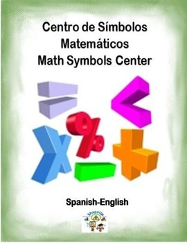 Spanish Math Symbols / Simbolos Matematicos in a Station / Center Activity