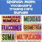 Spanish Math Vocabulary Trading Card Bundle