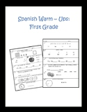 Spanish Math Warm-Ups First Grade