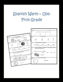 Spanish Math Warm-Ups First Grade