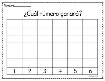 Spanish Math - Which Number Will Win?/¿Cuál número ganará?