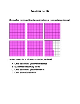 Spanish Math Word Problems (4th grade STAAR) Pack --2 ALIGNED TO NEW TEKS