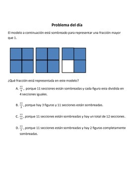Spanish Math Word Problems (4th grade STAAR) - Pack 5 - - ALIGNED TO NEW TEKS