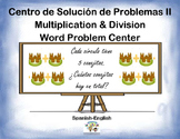 Spanish Math Word Problems II / Problemas Mult. Y Div. Escritos II in a Station