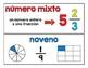 Spanish Math Word Wall / Pared de palabras (matemáticas) CC.NF