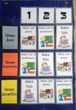 Spanish Math Workshop Pocket Chart Labels