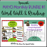 Spanish May Bundle 1 : May Word Wall Cards and Comprehensible Input Reading