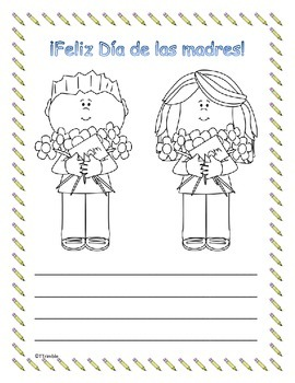 Spanish May Writing Packet Freebie