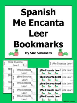 Spanish Me Encanta Leer Bookmarks