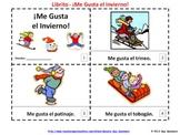 Spanish Me Gusta el Invierno Booklets - I Like Winter Booklets