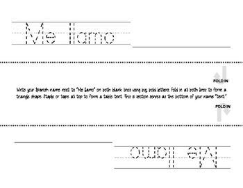 Spanish Me Llamo Name tag label/ tabel tent for student desks editable