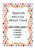 Spanish Meals  and Food Activity: What do you have for...?
