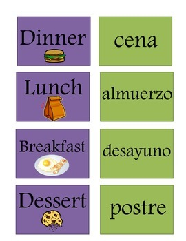 Spanish Meals of the Day Basket