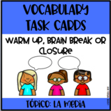 Media Task Cards-Do Now/Brain Break/Closure!