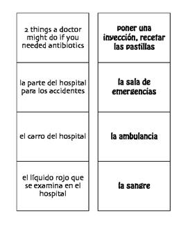 Spanish Medical Emergencies Matching Game