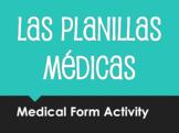 Spanish Medical Form Activity