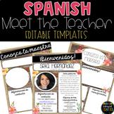 Spanish Meet the Teacher Template - EDITABLE