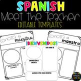 Spanish Meet the Teacher Templates - EDITABLE (Bright Edition)