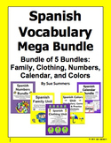 Spanish Vocabulary Mega Bundle of 5 Bundles