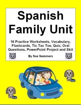 Spanish Vocabulary Mega Bundle of 5 Bundles