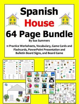 Spanish Mega Bundle of 5 Bundles: Sports, Weather, City, House, and Body Parts