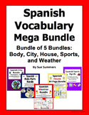 Spanish Mega Bundle of 5 Bundles: Sports, Weather, City, H