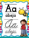 Spanish Melonheadz Themed Mixed Alphabet (Abecedario manuscrito y cursivo )