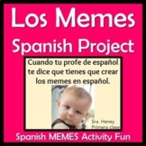 Spanish Memes Project - No-Prep Reading, Speaking, Writing
