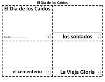 Spanish Memorial Day 2 Booklets