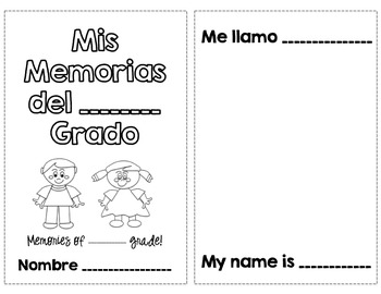 Spanish Memory Book - End of Year Activity