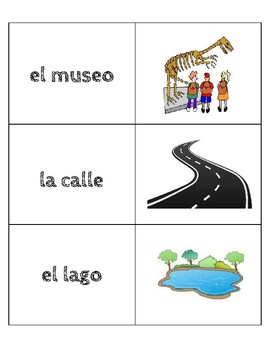 Spanish Memory Concentration Game - Travel Review Unit