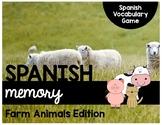 Spanish Memory - Farm Animal Vocabulary Game