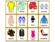 Spanish Memory Game: Clothing - La Ropa