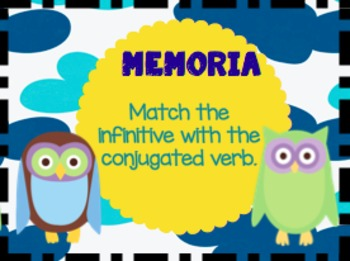 Spanish Memory: Game for -AR Verbs