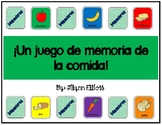 Spanish Memory Game on Food