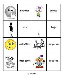 Spanish 1 Memory (Memoria) Games
