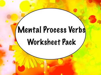 Spanish Mental Process Verbs (Verbs of Cognition) Practice Worksheets Set