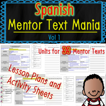 Read Aloud Lesson Plan and Activities Bundle (Spanish Mentor Text Mania Vol 1)