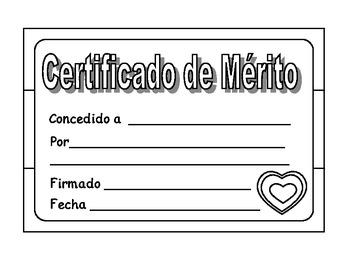Spanish Merit Certificates