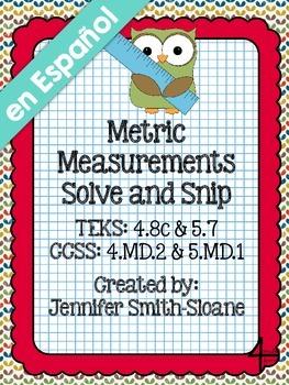 Spanish Metric Measurements Solve and Snip