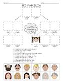 Spanish - Mi Familia Family - Cut & Paste Reading Comprehension Activity
