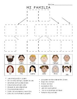 Spanish - (Mi Familia) Family Tree - Cut & Paste Puzzle
