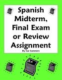Spanish Midterm, Final Exam, or Exam Review Homework