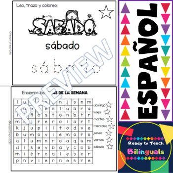 Spanish Mini-Book - The Days of the Week - Los Dias de la Semana