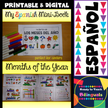 Spanish Mini-Book - The Months of the Year - Los Meses del Año